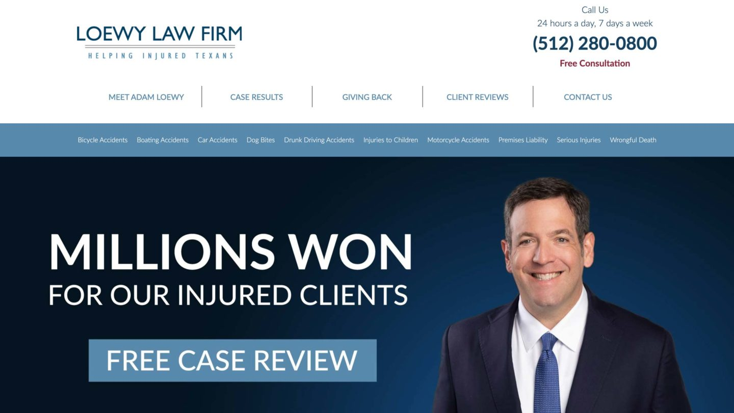 Loewy Law Firm Site Launch